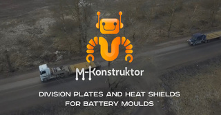 Division plates and heat shields for battery moulds