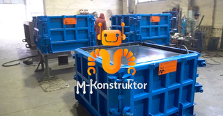 Steel moulds for concrete trash containers