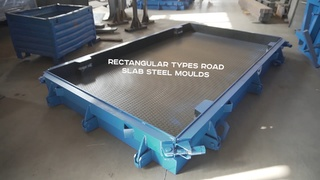 Steel moulds for rectangular road slabs 2P30.18 are ready and sent to the customer.