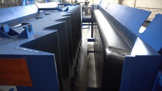 Stair flights, leadings and stair steps steel moulds