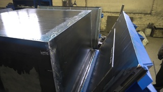 Steel moulds for concrete trash containers storage shed