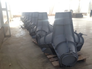 Tetrapod steel moulds