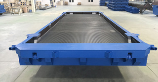 Steel moulds for smooth airfield slabs PAG-14