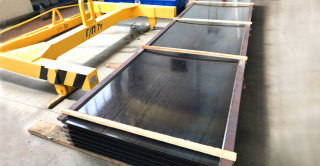 Platforms for moulding lines for the production of hollow-core slabs