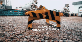 The concrete block clamp