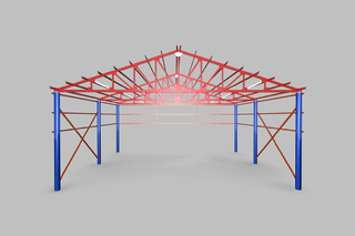 Goods shed steel constructions