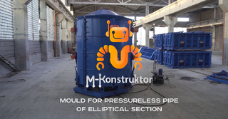 Microtunneling pipe steel moulds produced by the M-Konstruktor