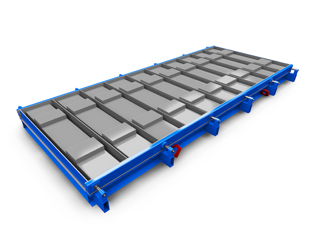 Steel moulds for precast concrete ductings for cable trays and trough