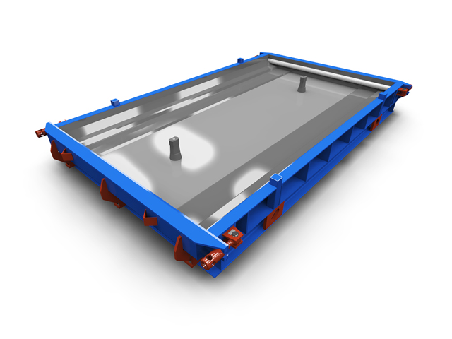 Tram slab steel moulds