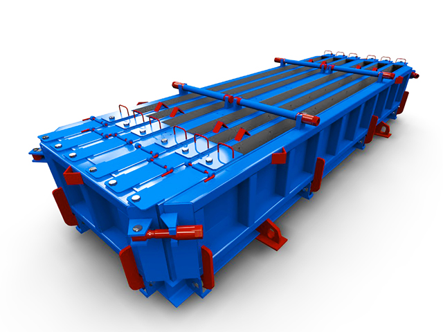 Steel moulds for purlins with rectangular section
