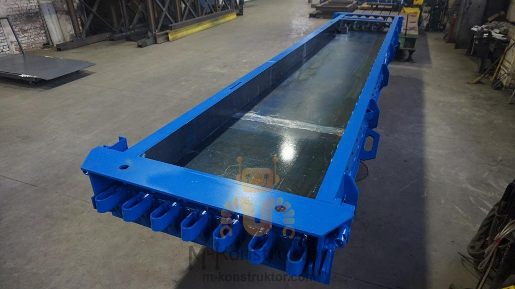 Steel moulds for hollowcore concrete slab | M-Konstruktor